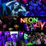 Combo Cotillon Luminoso Led Neon 100 Personas