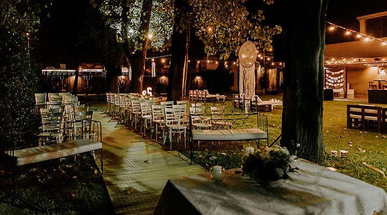 Casamiento en un quinta ó estancia