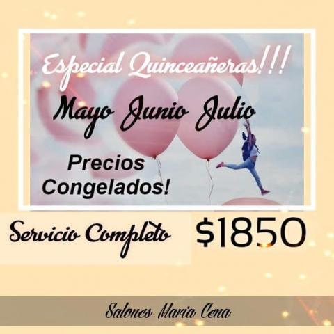 ESPECIAL QUINCEAÑERAS!!!
