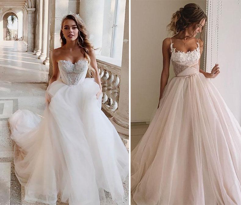 Vestido de novia Ball Gown ó corte princesa