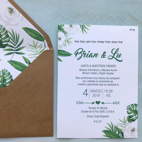 Invitaciones impresas