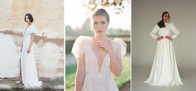 Vestidos de novia con mangas con volumen