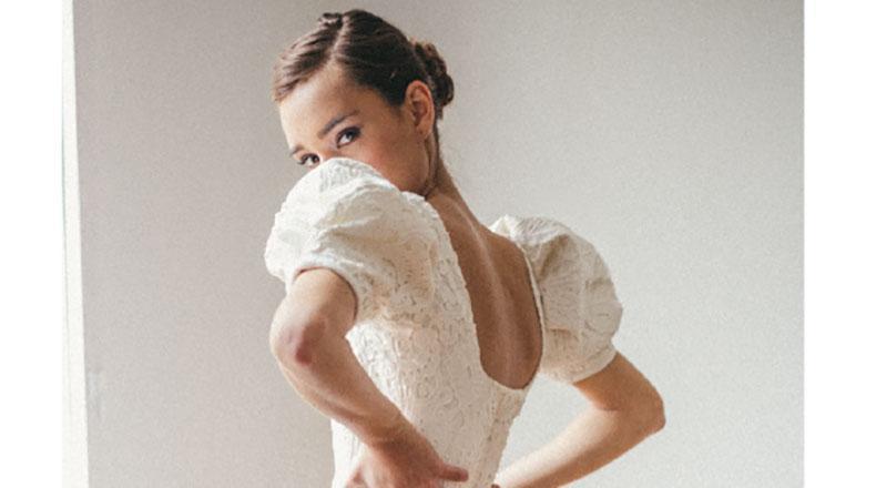 Mangas con volumen en vestido de novia