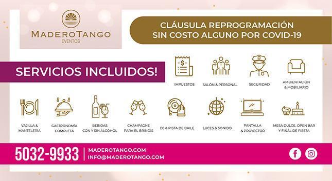 Madero Tango Eventos 2020 y 2021