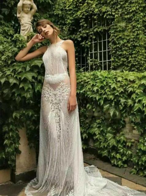 Vestido de novia integramente bordado  | Casamientos Online