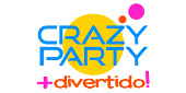 Logo Crazy Party ¡Es más divertid...