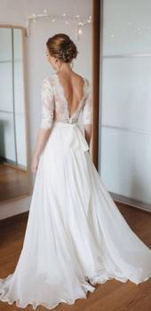 Imagen 1 de 6 Meses antes: Vestido de novia
