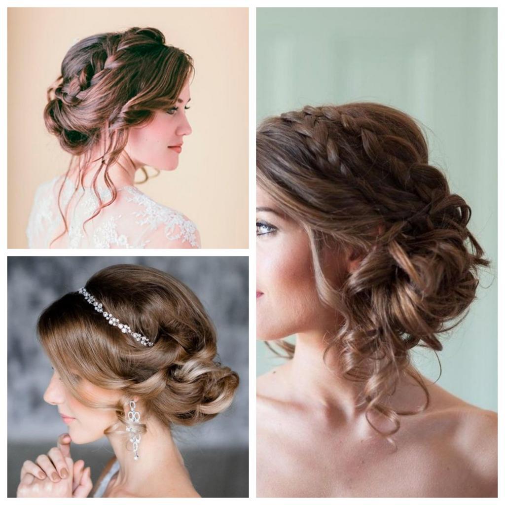 Peinados de novia recogidos para cara redonda